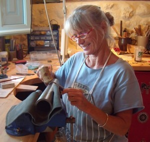 Kerstin in her workshop