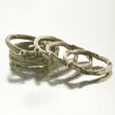 Gold twig rings with balls